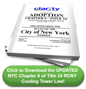 Download Chapter 8 Title 24 of the Rules of The City of New York for Cooling Towers