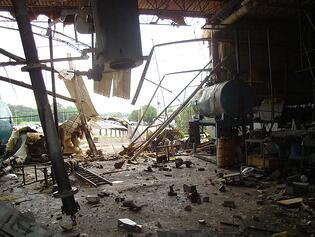 Photo of Boiler Explosion Damage from Paris, TN