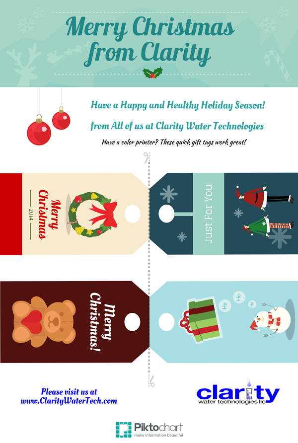 Clarity Christmas Tags
