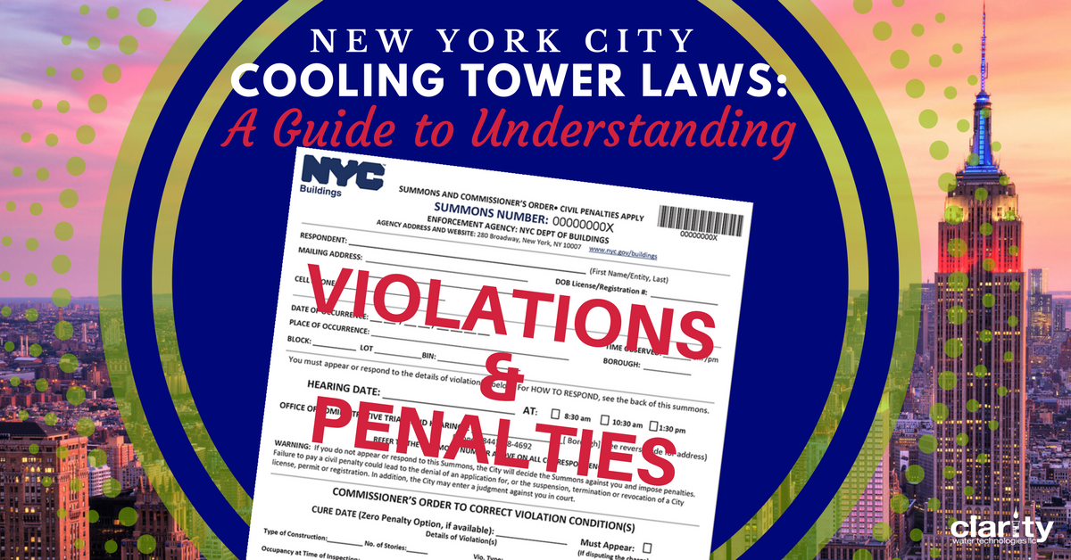 NYC Cooling Tower Laws Guide to Understanding Violations and Penalties